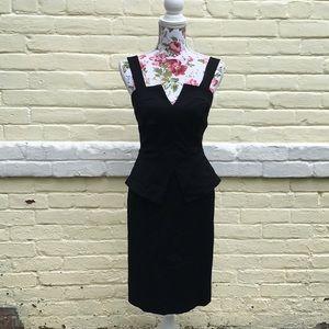 Black Peplum  Madonna/ Lady Gaga-Esque Dress